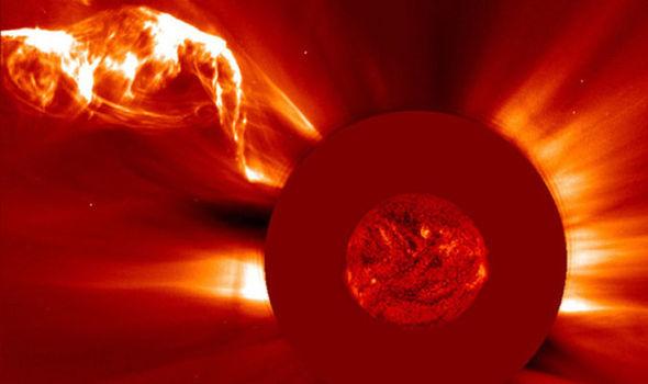 Outra explosão solar captada pela Nasa