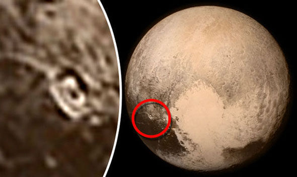 PICTURED The crater that shows Pluto could support LIFE