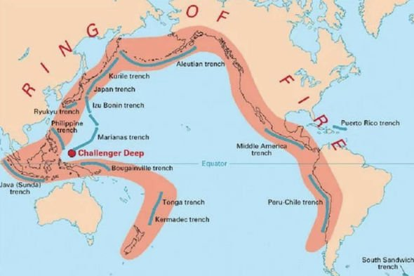 The Ring of Fire has 90 percent of the Earth's earthquakes