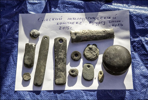 More of the 200 relics found in the lake