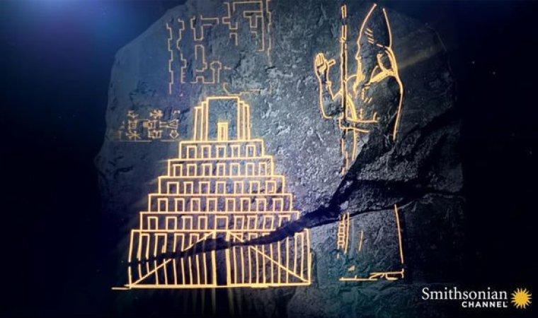 Torre de Babel: La losa mostraba tallas claras de la torre y su creador