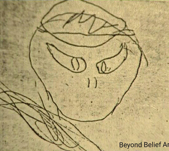 Barney sketched the alien life form in 1951, an image which has moulded our version of aliens today
