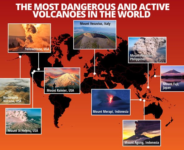 The most dangerous volcanoes on the planet mapped