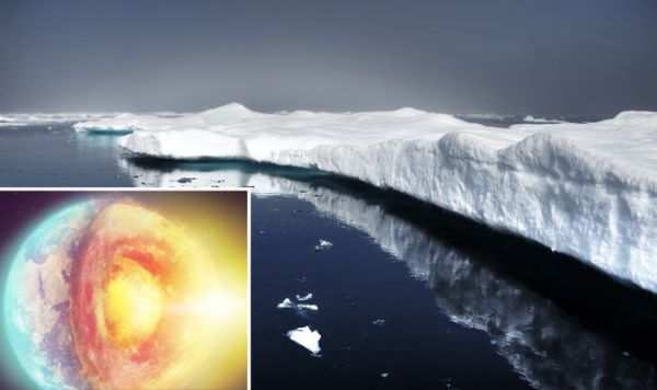 CLIMATE CHANGE SHOCK: Ice sheet melt caused by heat from ...