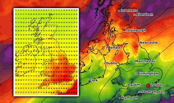 UK hot weather forecast: The UK will sizzle in highs of 25C this week