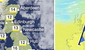HD Decor Images » UK weather forecast  Cold front brings 10C TEMPERATURE DROP amid     BBC Weather forecast   Heat to drop tomorrow