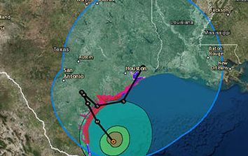 HD Decor Images » Hurricane Harvey path  When will Hurricane Harvey hit Texas  Latest     Hurricane Harvey predicted path