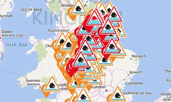 UK flood warnings