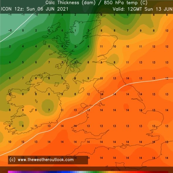 UK hot weather forecast: South-eastern regions could be hit with the hottest weather