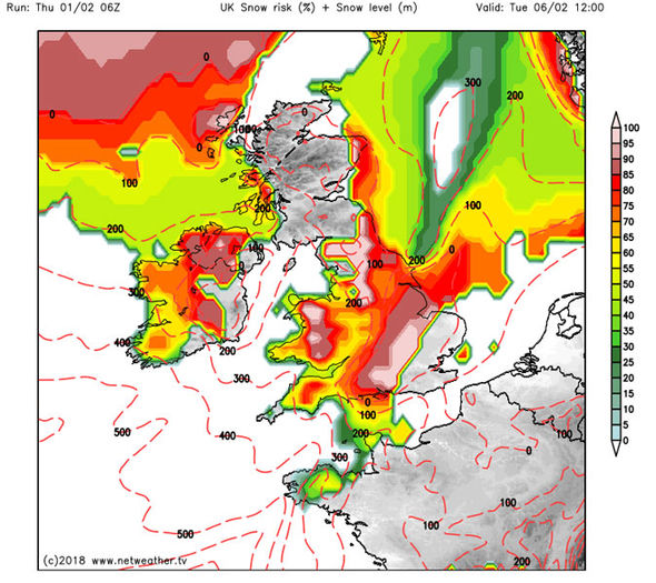 UK SNOW FORECAST Britain set for FOOT of heavy snow NEXT ...