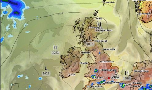 UK weather  What s the weather forecast tomorrow  Will it rain     Weather Map for the UK