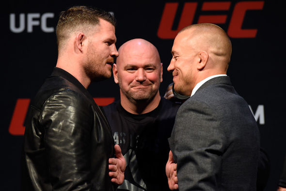 UFC star Georges St-Pierre and Michael Bisping