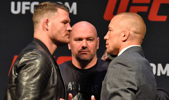 UFC stars Georges St-Pierre and Michael Bisping