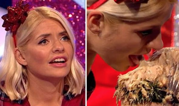 Holly Willoughby caught licking Stacey Soloman's face in Movie star Juice shock 1216448 1