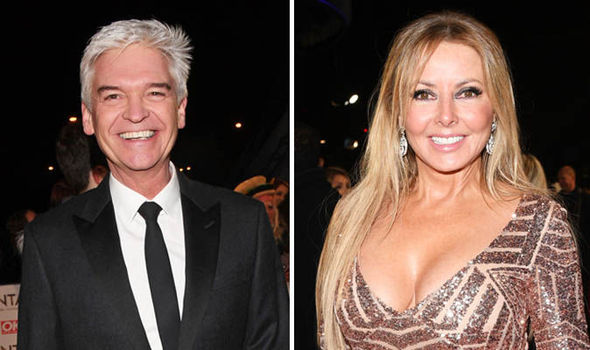 Carol Vorderman and Phillip Schofield
