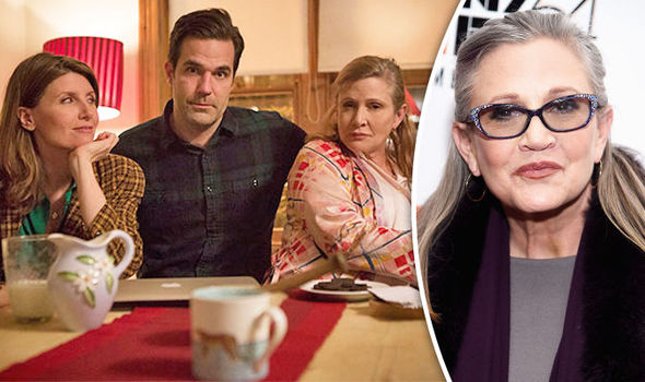 Catastrophe Season 3 Carrie Fisher's FINAL role will be 'bigger and chunkier' than before