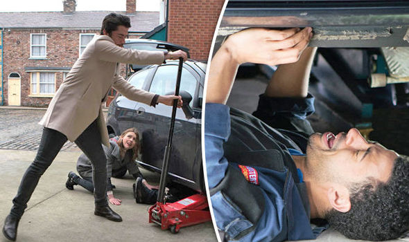 Coronation Street spoiler Luke Britton CRUSHED underneath car in shocking scenes