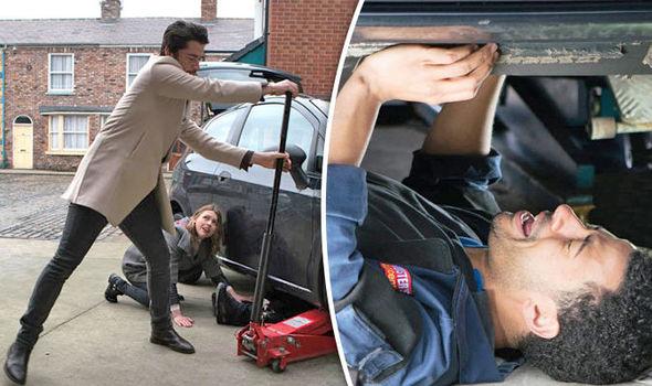 Coronation Street spoiler Luke Britton CRUSHED underneath car in shocking scenes