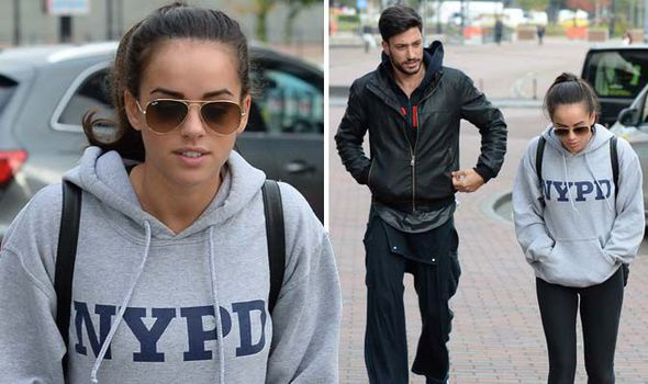 Georgia May Foote looks glum as she arrives for Strictly ...