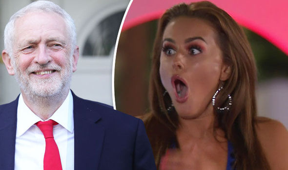 Jeremy Corbyn to blame for Love Island star's loss?