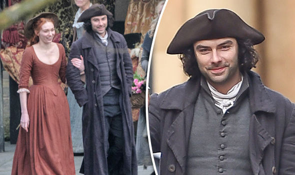 Poldark season 3 Set pictures show Ross and Demelza loved up amid Elizabeth's pregnancy
