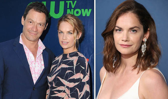 Ruth Wilson and Dominic West on a red carpet