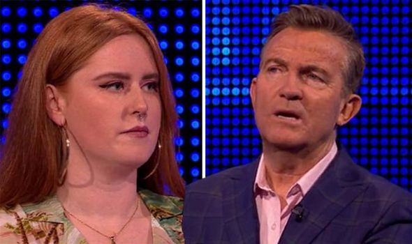 The chase contestant and Bradley Walsh