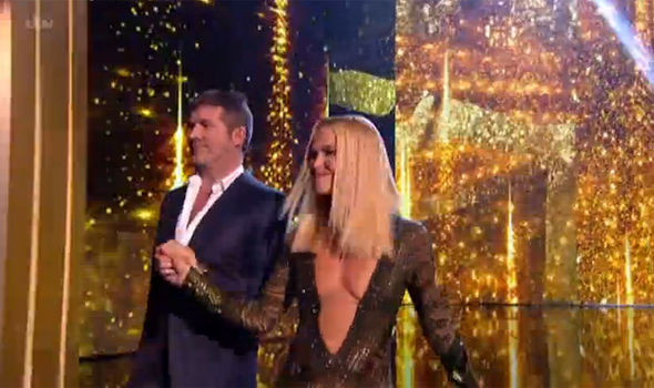 Amanda Holden flashed the flesh on Britain's Got Talent