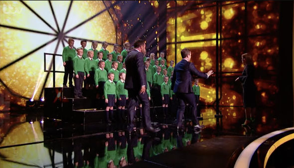 Ant and Dec had to rush onstage