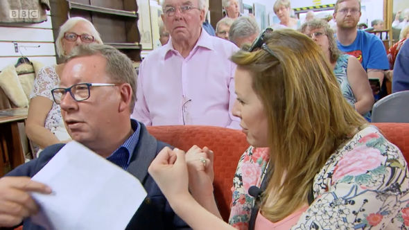 Antiques Road Trip BUST UP Mark Stacey and Christina Trevanion in auction showdown