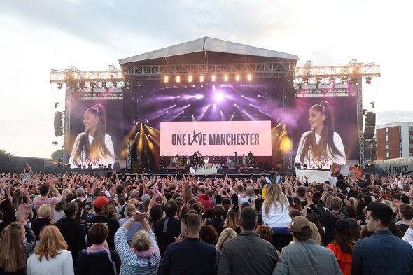 Ariana Grande held a benefit concert
