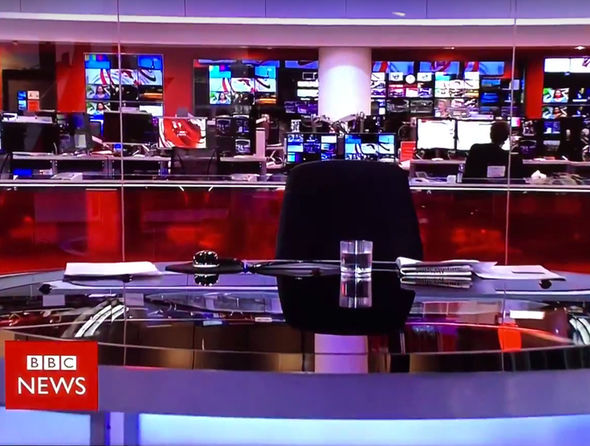 BBC broadcast empty chair after newsreader gaffe sees him ...