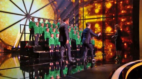 Britain's Got Talent 2017 Ant and Dec rush on stage to stop St Patrick's Junior Choir