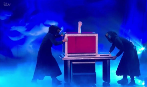Josephine Lee is forced into the box on Britain's Got Talent