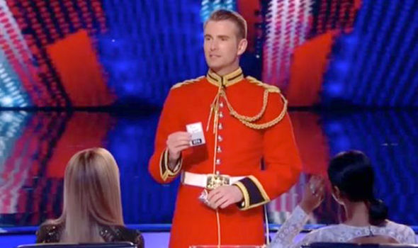 Richard Jones performs a trick for the audience on Britain's Got Talent