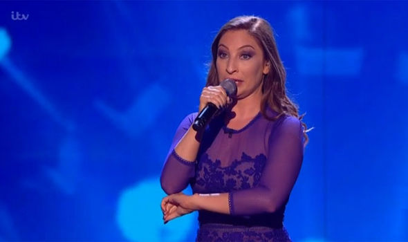Impressionist and singer Jess Robinson performs on Britain's Got Talent