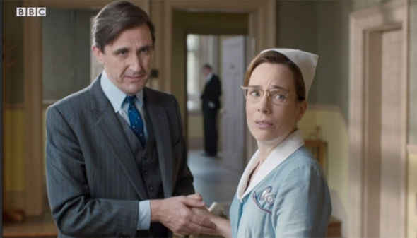 Shelagh and Dr Turner on Call the Midwife