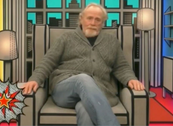 Celebrity Big Brother 2017 James Cosmo superhero costume punished