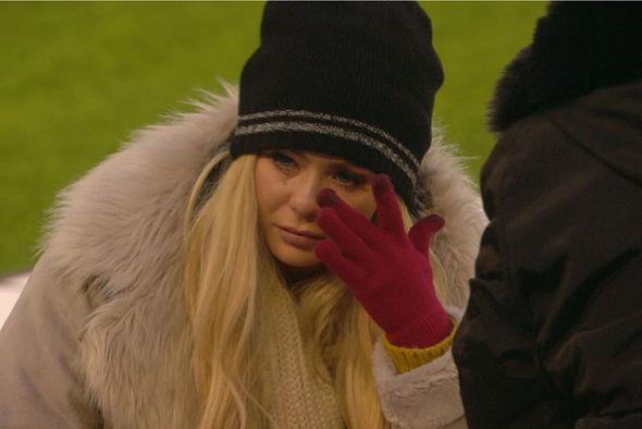 Nicola McLean in tears