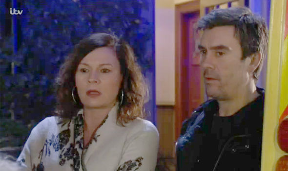 Chas and Cain Dingle were not pleased to see Faith on Emmerdale
