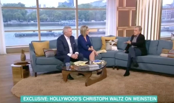 Christoph Waltz is asked about Harvey Weinstein on This Morning