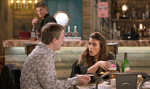 Steve McDonald and Michelle Connor argue in Coronation Street