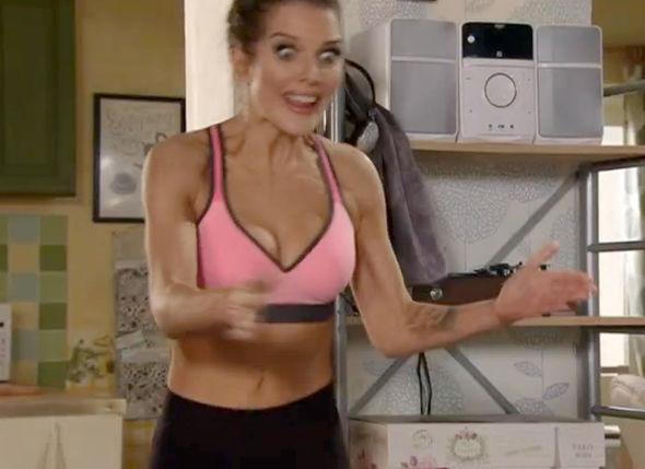 Coronation Street Helen Flanagan Rosie Webster sports bra workout