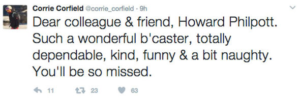 Corrie Corfield tweet