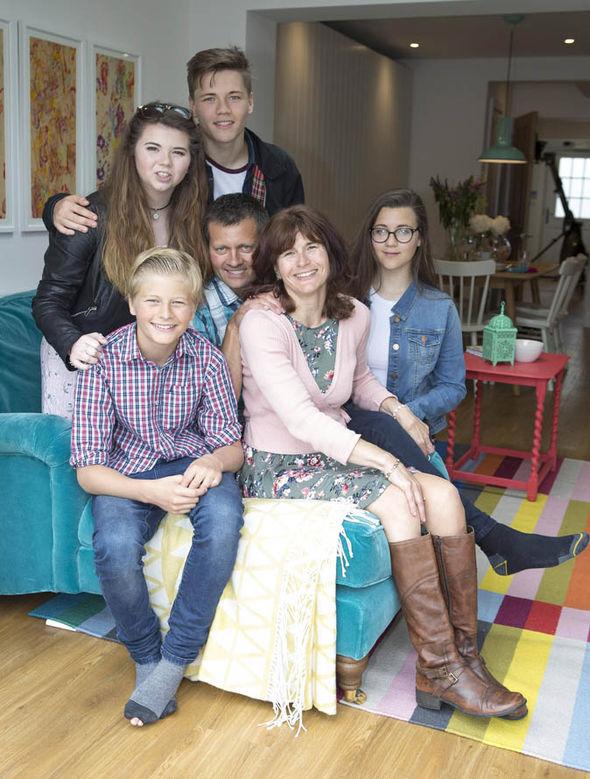 Amanda Worne and her family