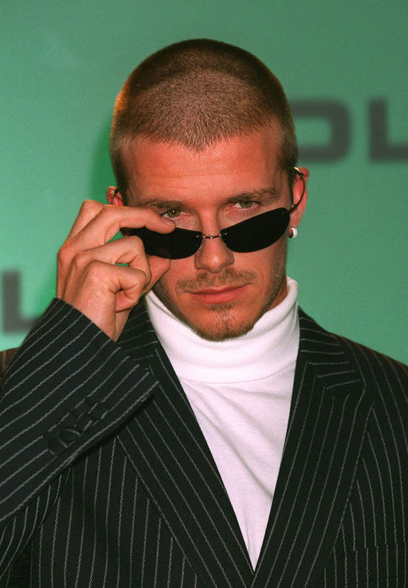 David Beckham wearing sunglasses