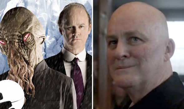 Tim McInnerny as Father Bain and in Doctor Who as Mr Halpen