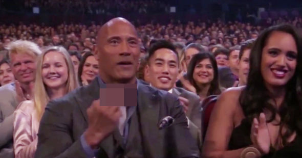 Dwayne Johnson was caught swearing