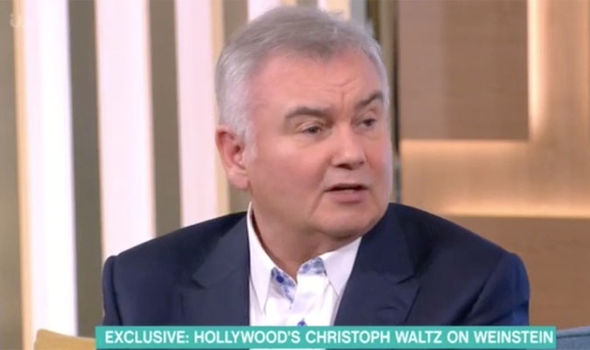 Eamonn Holmes questions Christoph Waltz about Harvey Weinstein