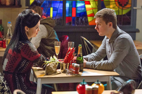 EastEnders Whitney and Lee Carter celebrate Valentine's Day
